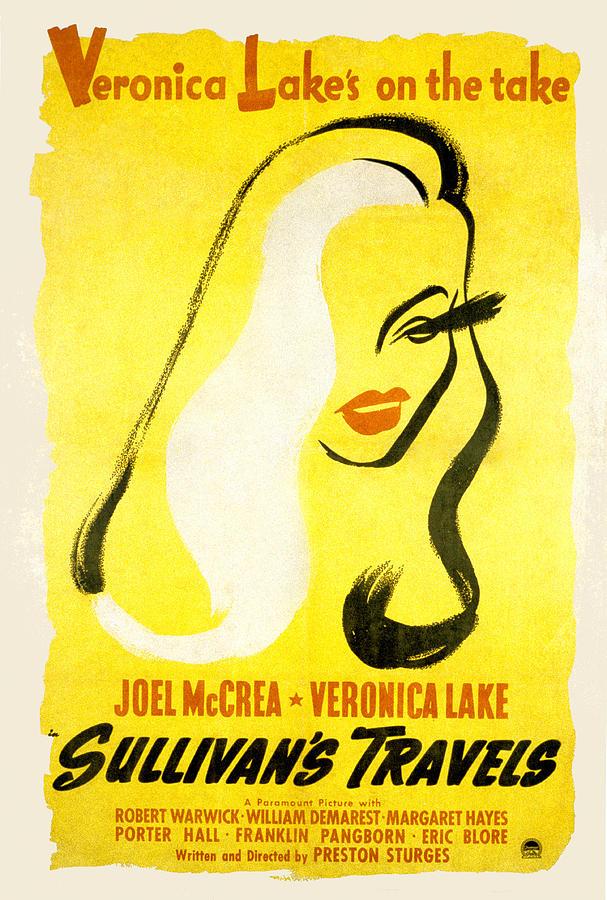 1940s Movies Photograph - Sullivans Travels, Veronica Lake by Everett