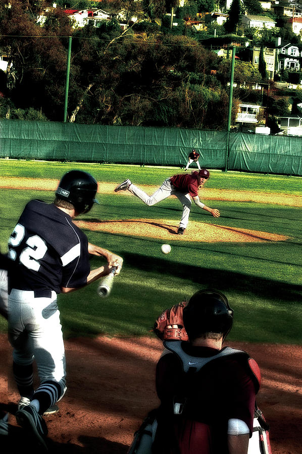 Baseball Mixed Media - Summer Days by Russell Pierce