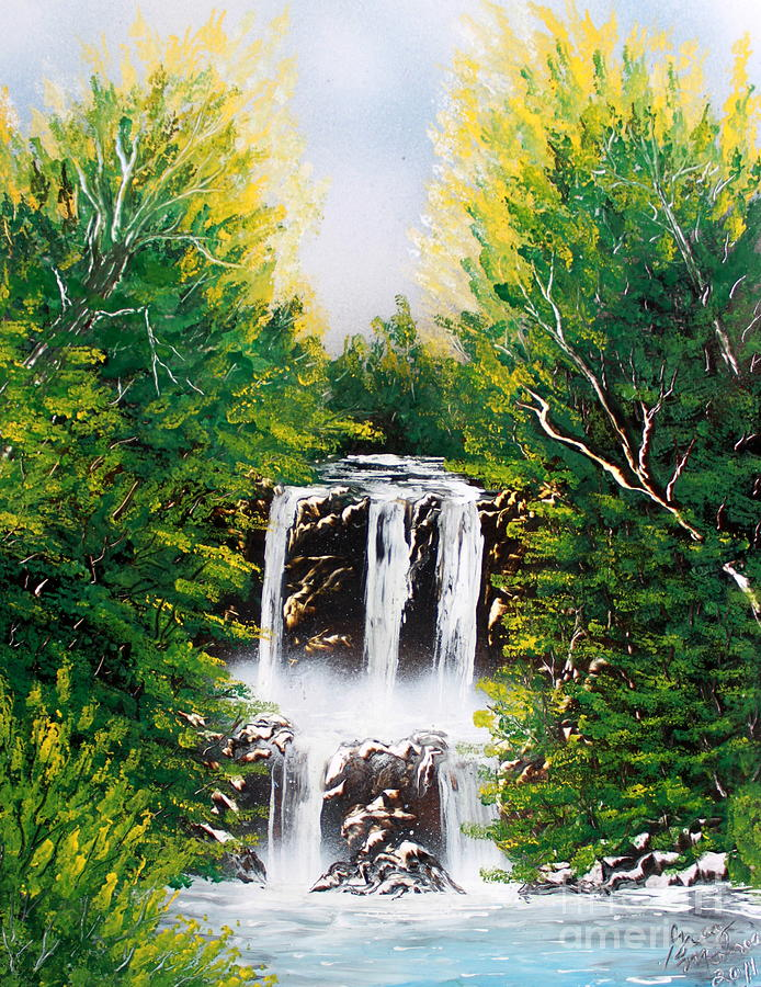 Landscape Painting - Summer Falls by Greg Moores