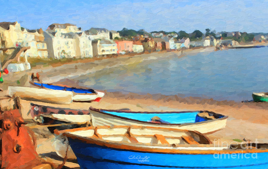 Summer In Dawlish Painting