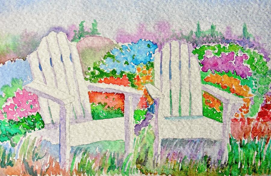 Landscape Painting - Summer In Paradise by Elena Mahoney
