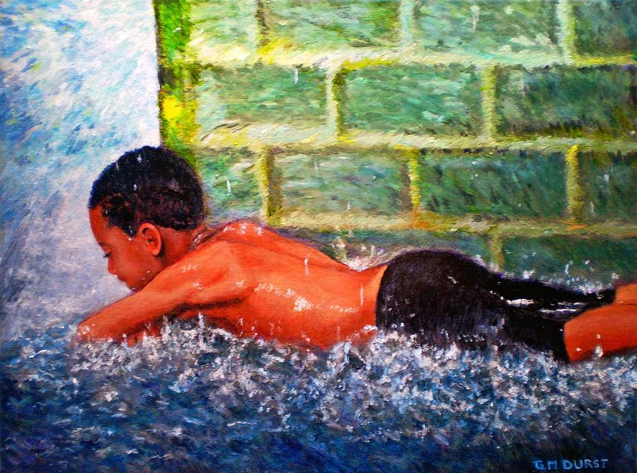 Boy Painting - Summer Nirvana by Michael Durst