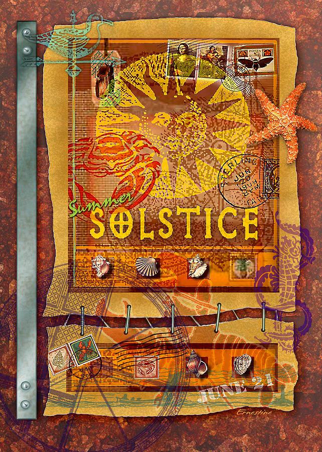Summer Digital Art - Summer Solstice by Ernestine Grindal