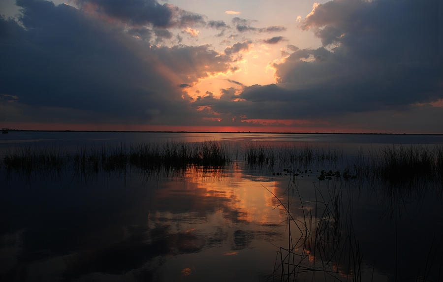 Sunset Photograph - Sun Behind The Clouds by Susanne Van Hulst