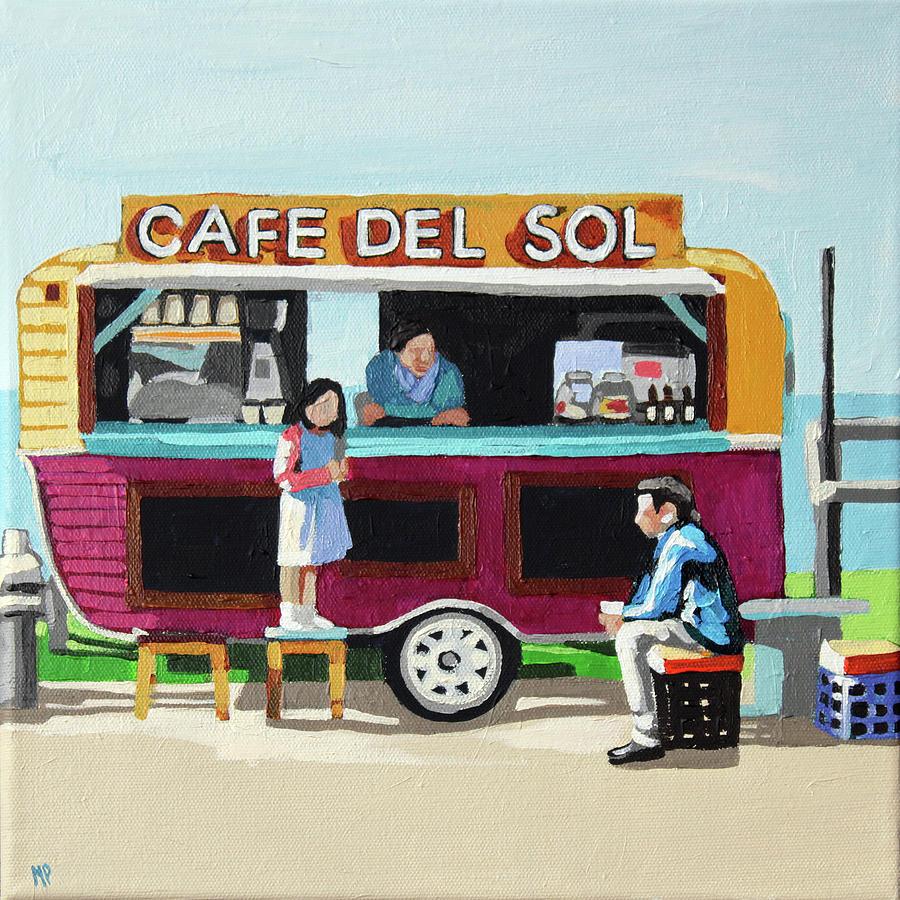 Sun Coffee Painting