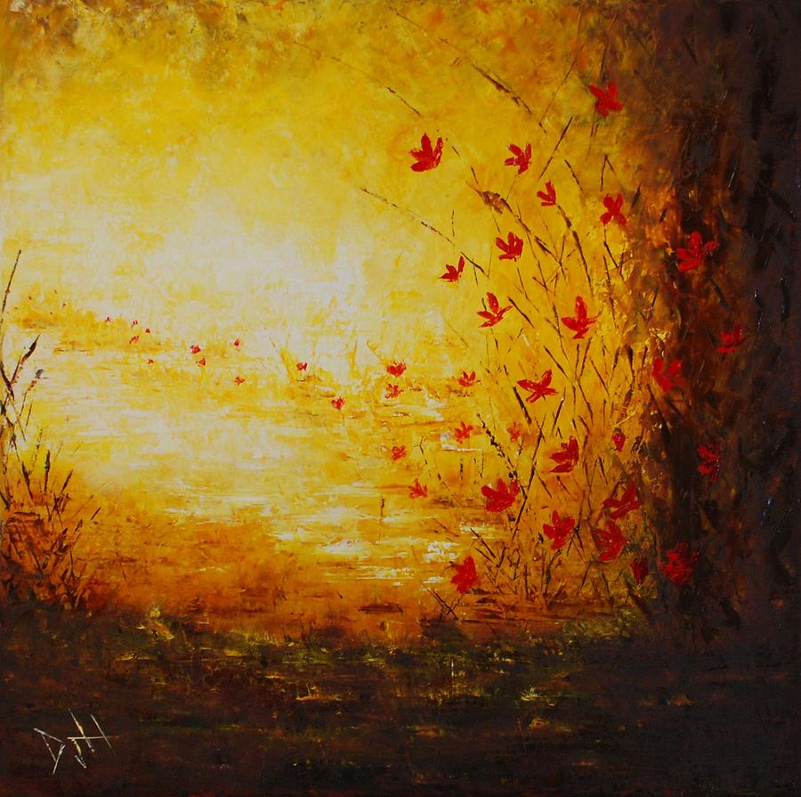 Forest Painting - Sun Drenched by Debra Houston