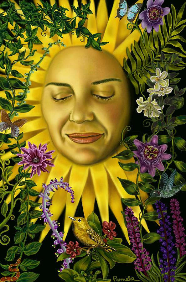 Sun Goddess Painting