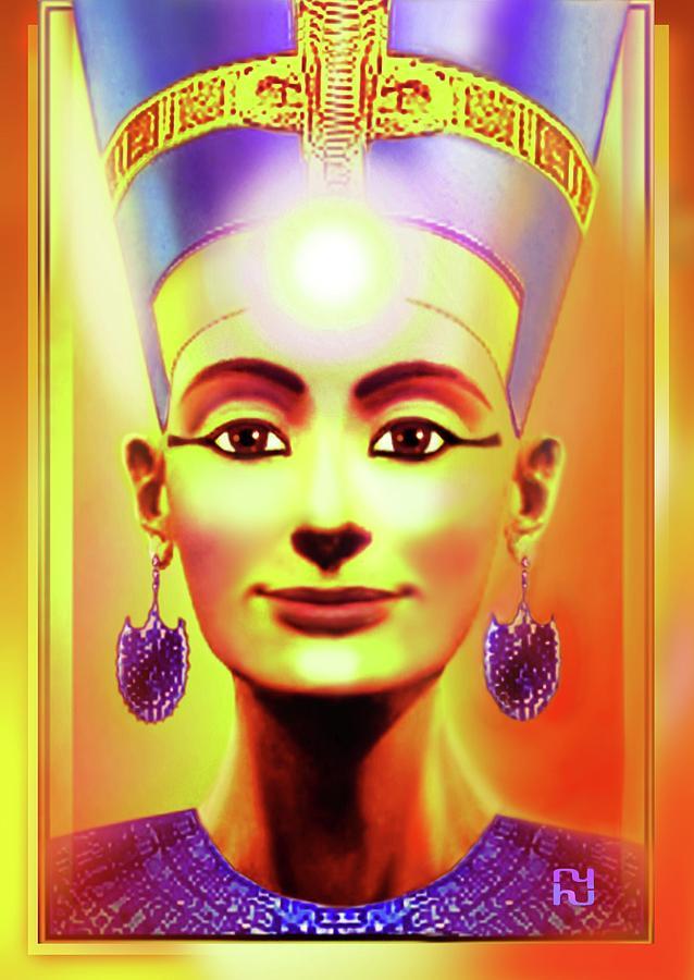 Sun Queen Nefertiti Digital Art by Hartmut Jager