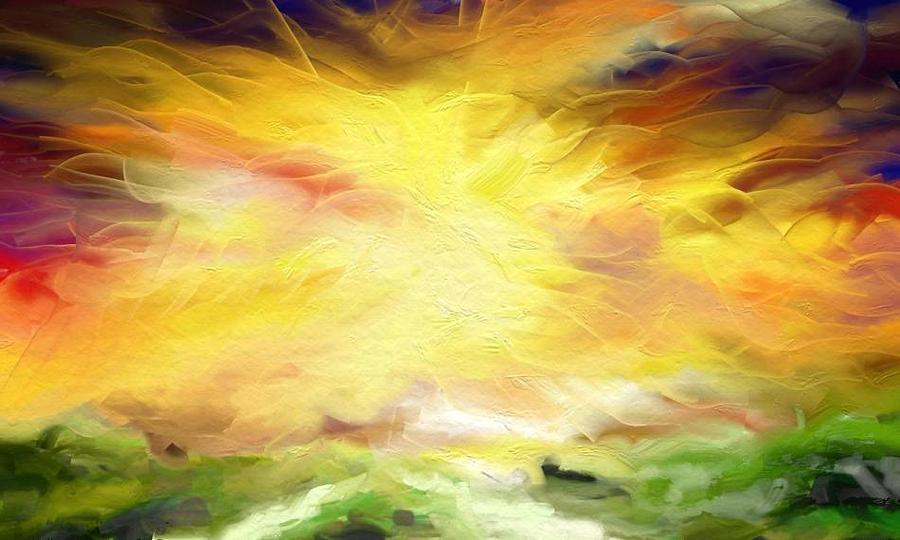 Sun Digital Art - Sun Rays by Kevin Steven