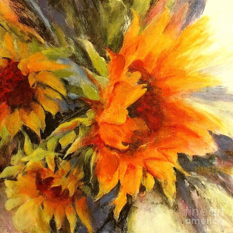 Sunflower Painting Painting - Sunburst by Madeleine Holzberg