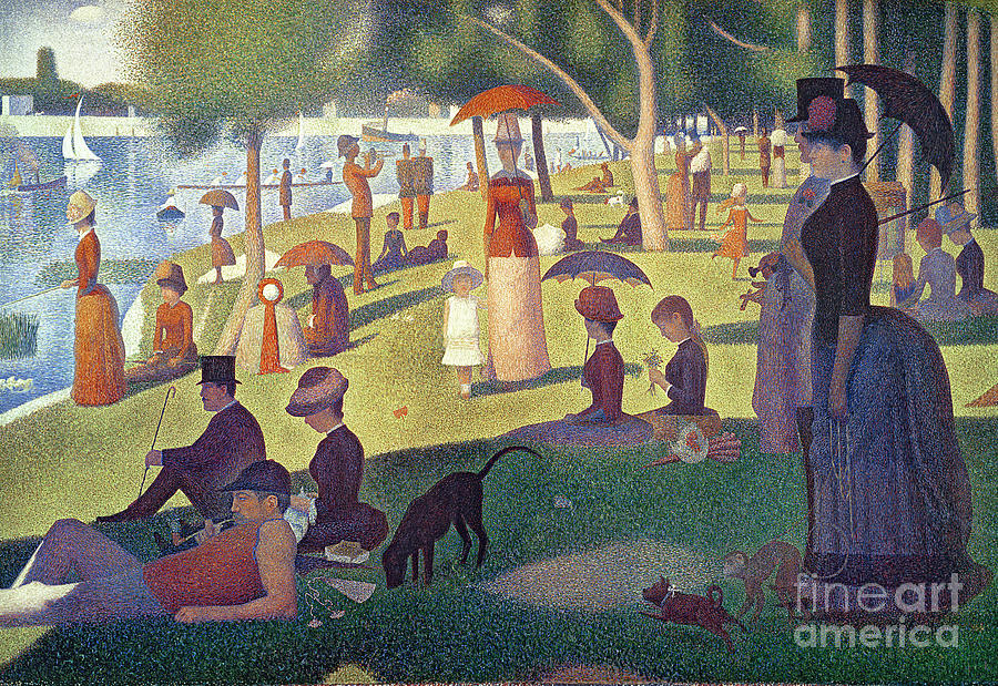 Sunday Painting - Sunday Afternoon On The Island Of La Grande Jatte by Georges Pierre Seurat