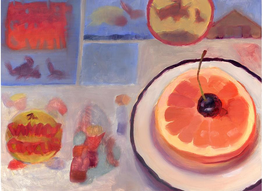 Sunday Morning Breakfast Painting - Sunday Morning by Diane Houghton