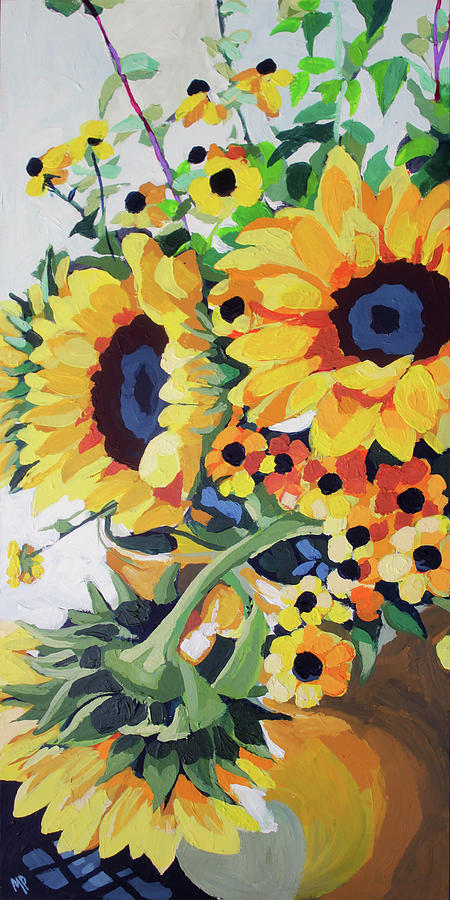Sunflower Bunch Painting