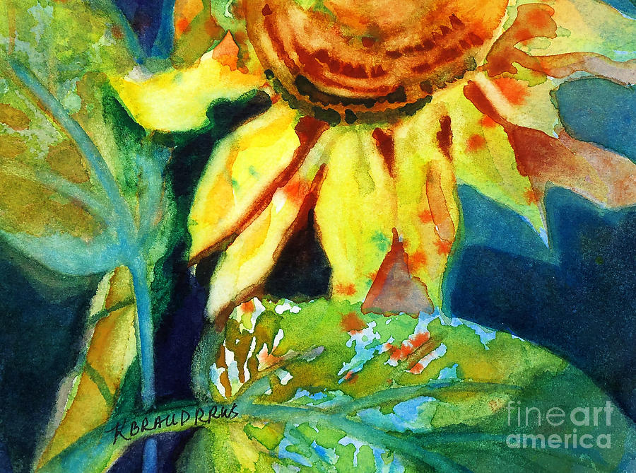 Painting Painting - Sunflower Head 4 by Kathy Braud