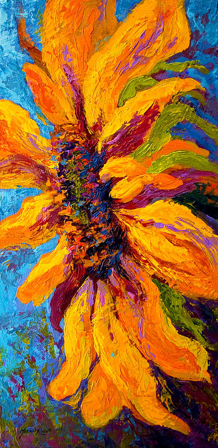 Sunflowers Painting - Sunflower Solo II by Marion Rose