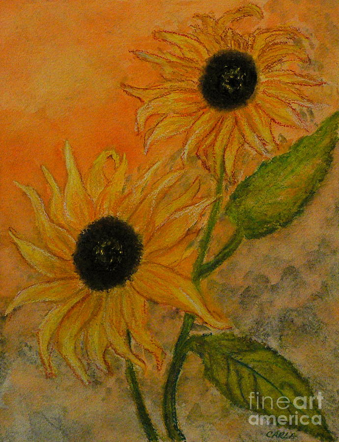 Floral Painting - Sunflowers by Carla Stein