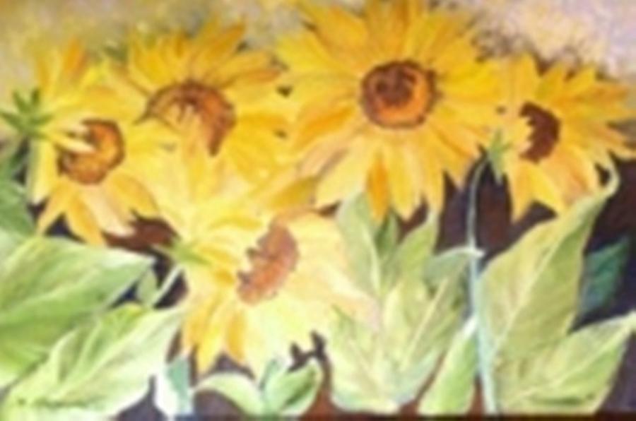 Flower Painting - Sunflowers by Isabel Alfarrobinha