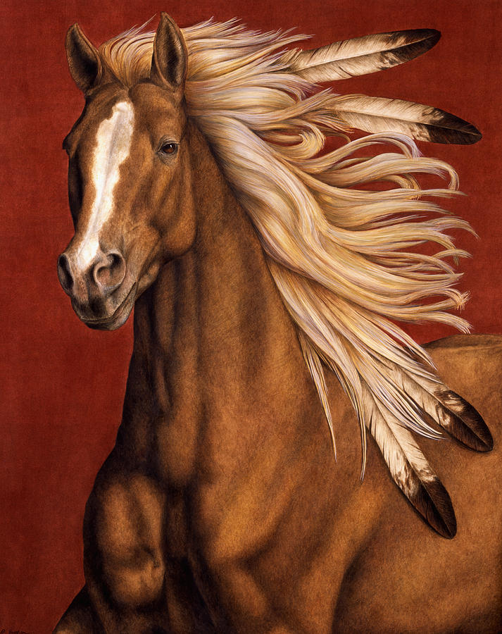 Horse Painting - Sunhorse by Pat Erickson