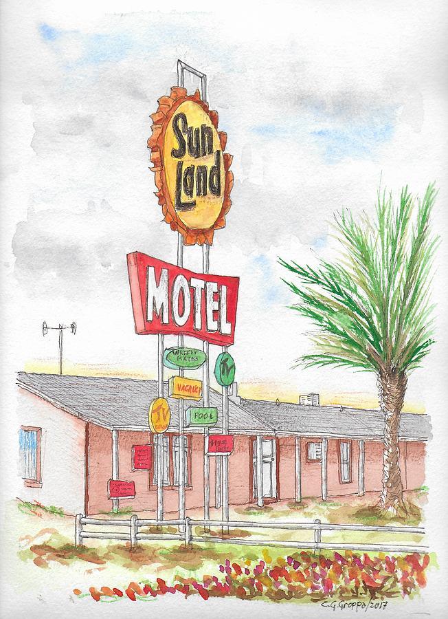 Sunland Motel, Route 80, Meza, Arizona Painting