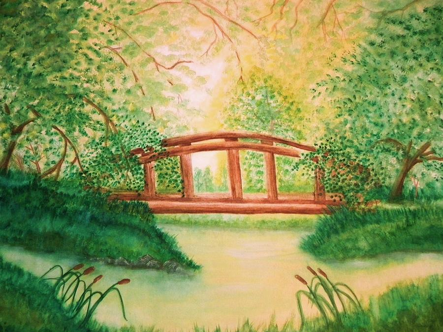 Waterscape Painting - Sunlight And Serenity by Nan Hand