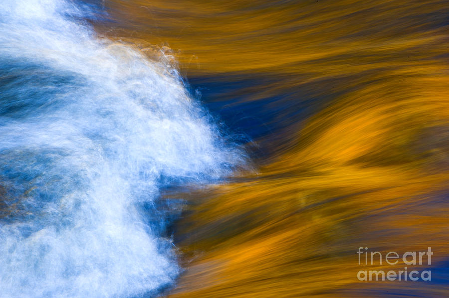 Abstract Photograph - Sunlight On Flowing River by Bill Brennan - Printscapes