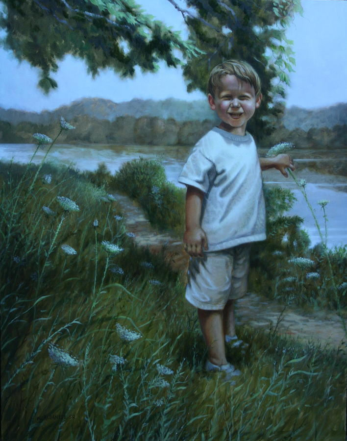 Grass Painting - Sunny Boy by William Albanese Sr