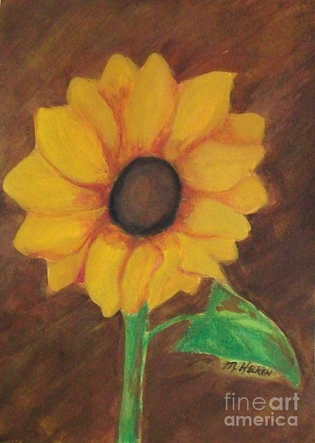Sunflower Pastel - Sunny Side Up by Marsha Heiken