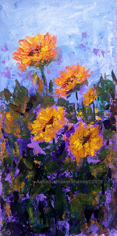 Sunny Sunflowers Painting