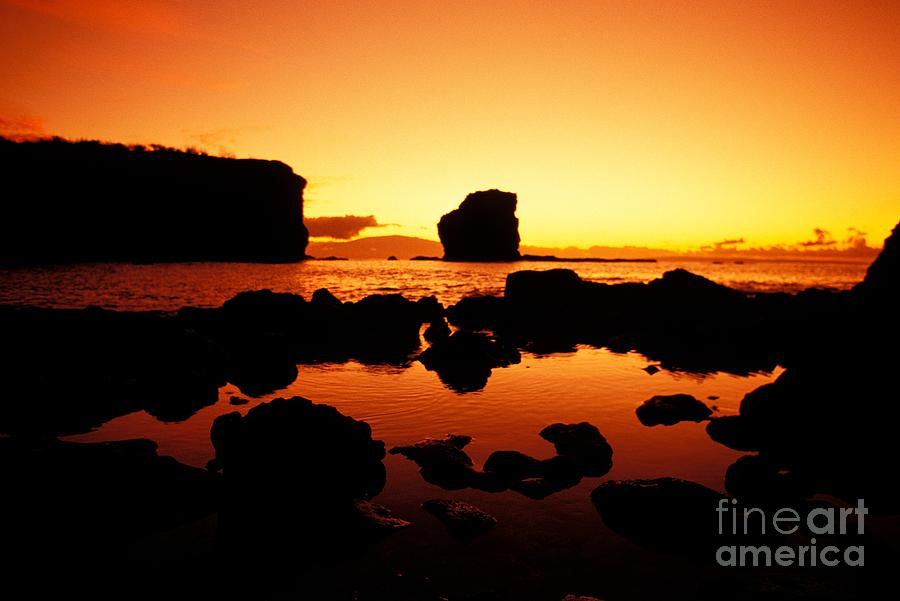 Calm Photograph - Sunrise At Puu Pehe by Ron Dahlquist - Printscapes