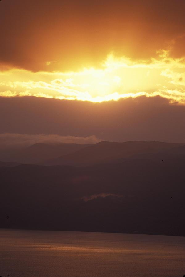 Dead Sea Photograph - Sunrise Of  Mount Nebo In  Jordan by Richard Nowitz