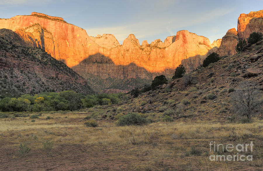 Hdr Photograph - Sunrise On East Temple by Sandra Bronstein