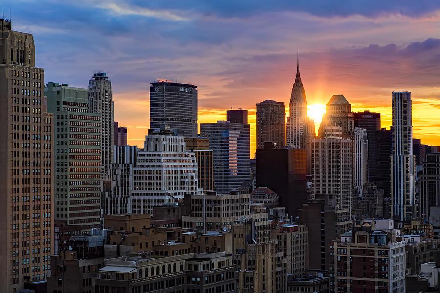 Sunrise Over Chrysler Photograph
