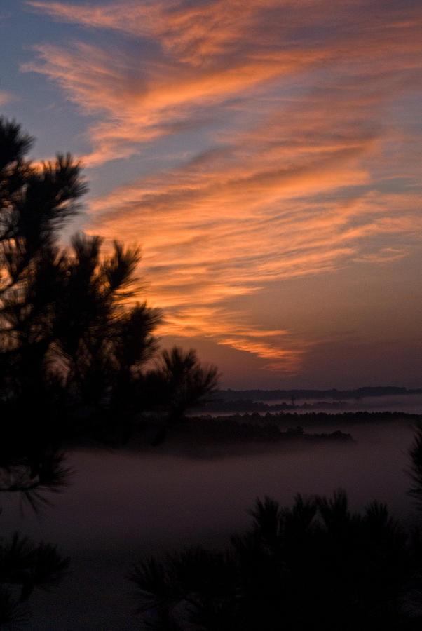 Sunrise Photograph - Sunrise Over The Mist by Douglas Barnett
