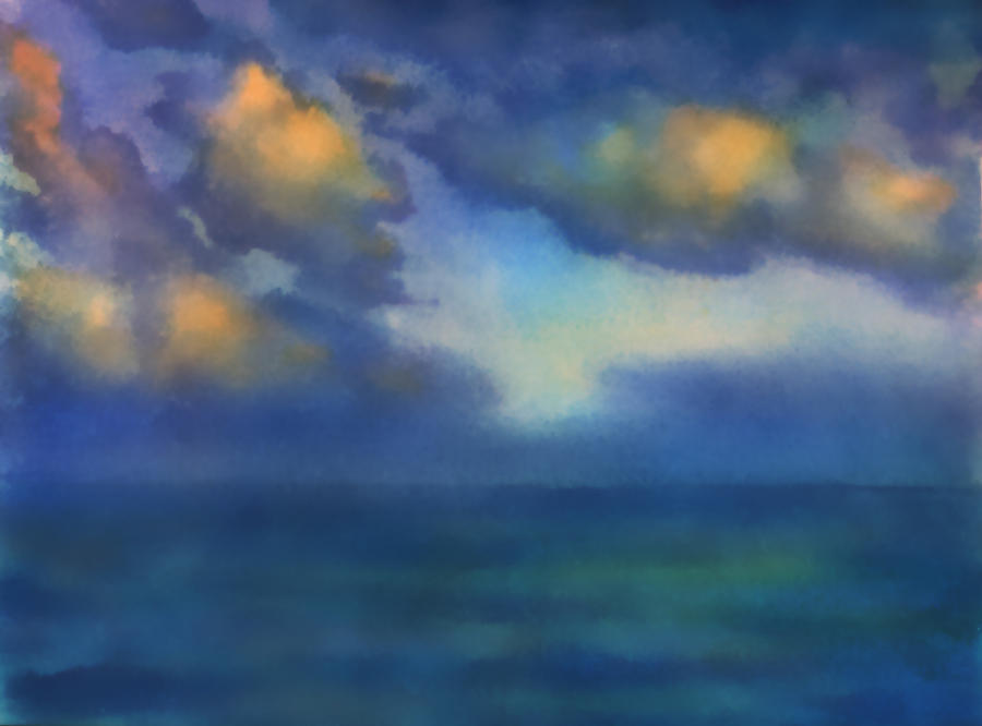 Sea Painting - Sunset 2 by Valeriy Mavlo