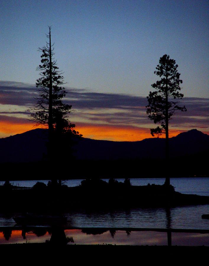 Lake Almanor Photograph - Sunset At Lake Almanor by Peter Piatt