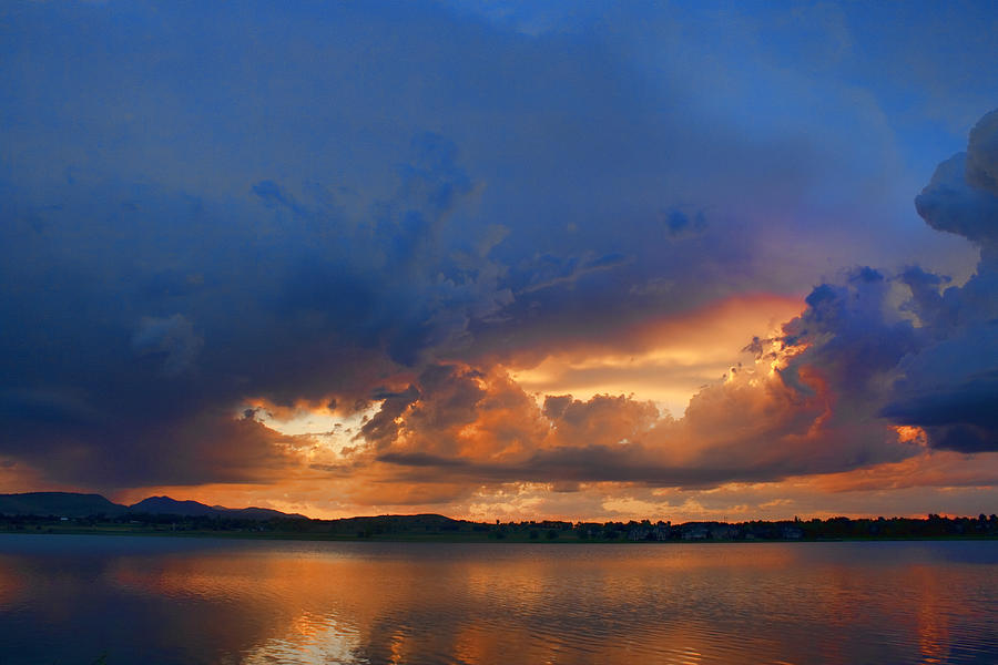 Blues Photograph - Sunset Blues by James BO  Insogna