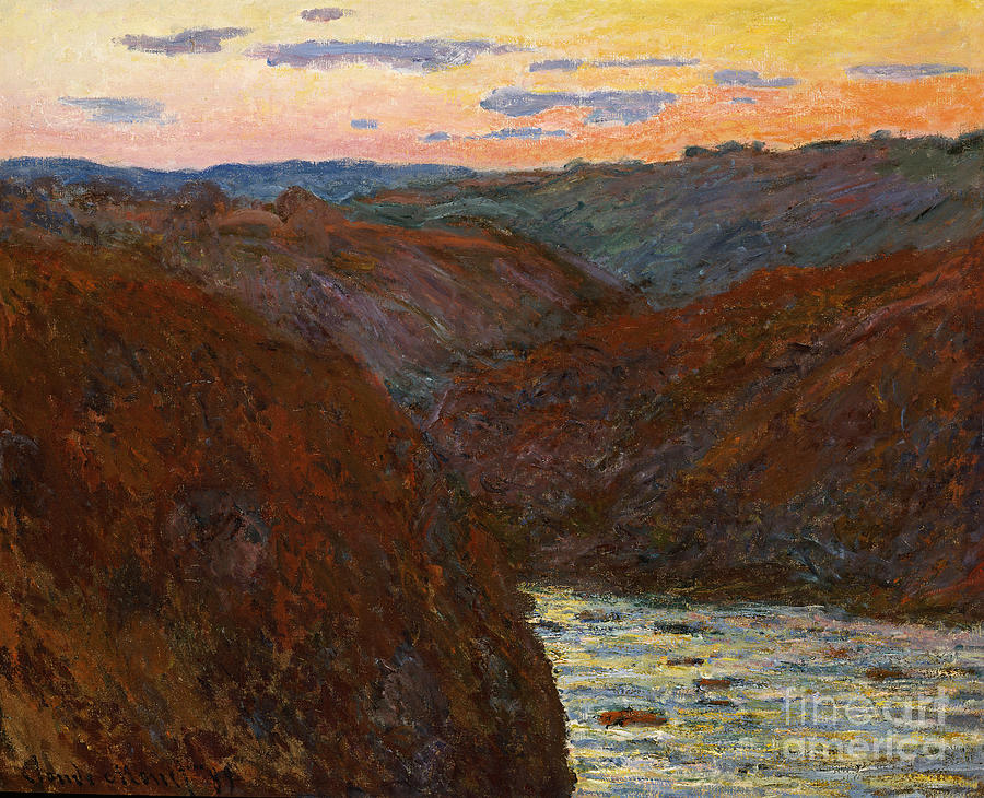 French Painting - Sunset by Claude Monet