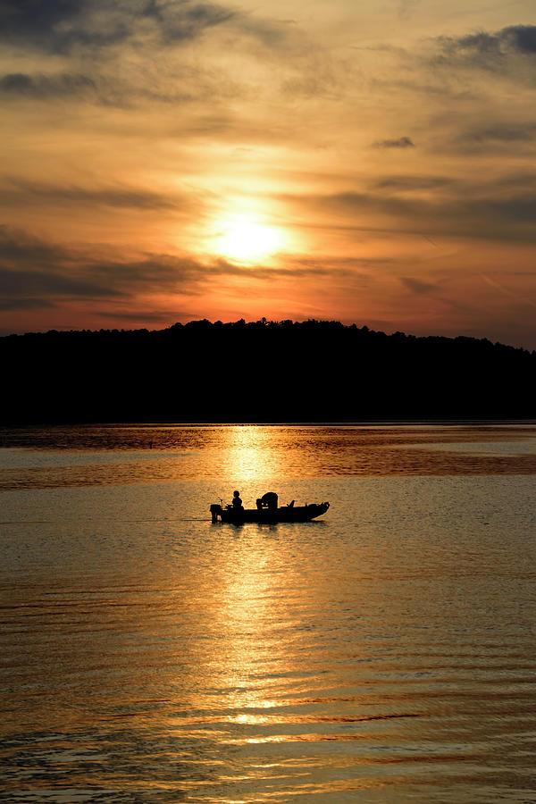 Sunset fishing photograph by scott bryan for Lake bryan fishing