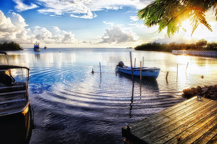 Bay Photograph - Sunset In A Fishing Village by George Oze