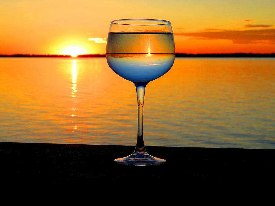 Sunset In A Glass Photograph