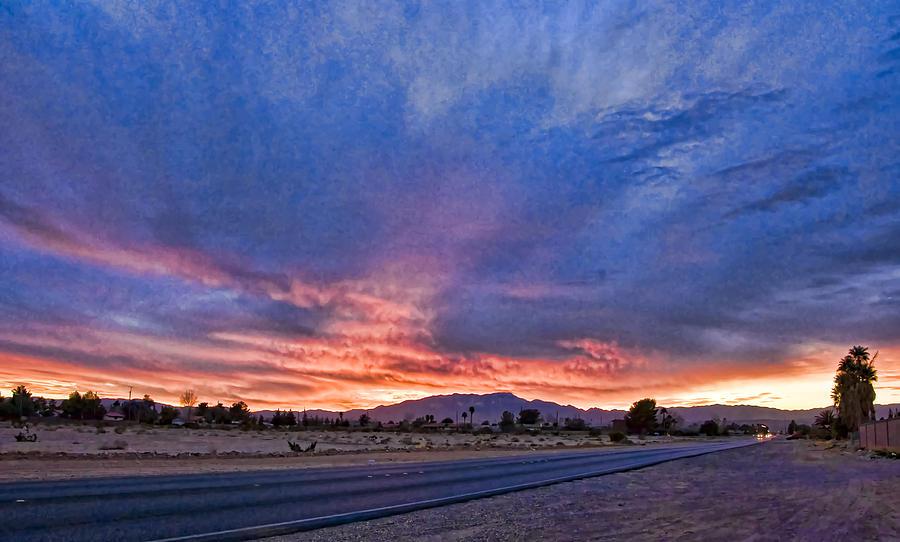 Sunset In The Desert Digital Art by Ches Black