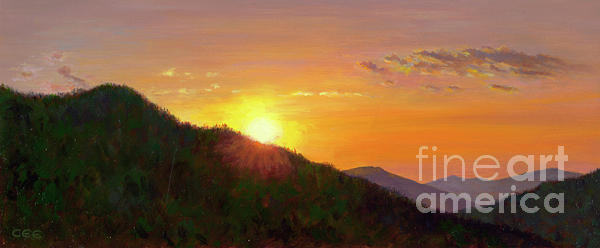 Sunset Painting - Sunset In The Smokies by Christa Eppinghaus