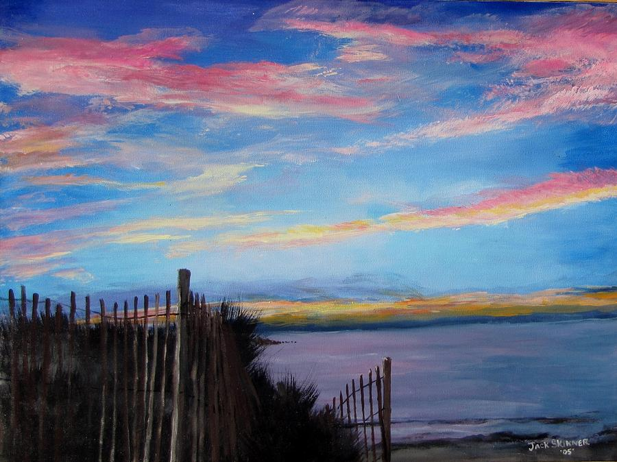 Sunset Painting - Sunset On Cape Cod Bay by Jack Skinner