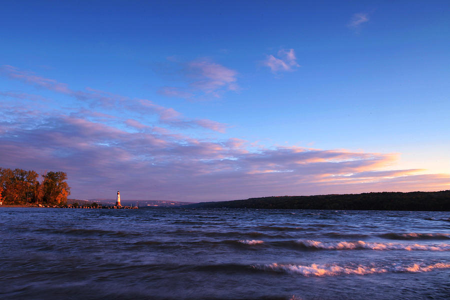 Ithaca Photograph - Sunset On Cayuga Lake Ithaca by Paul Ge