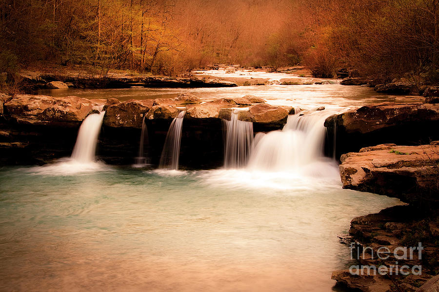 Waterfall Photograph - Sunset On Kings River by Tamyra Ayles