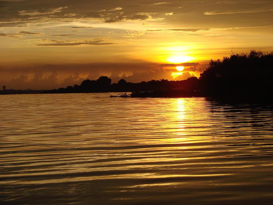 Sunset Photograph - Sunset On Lake Manatee by Kimberly Camacho