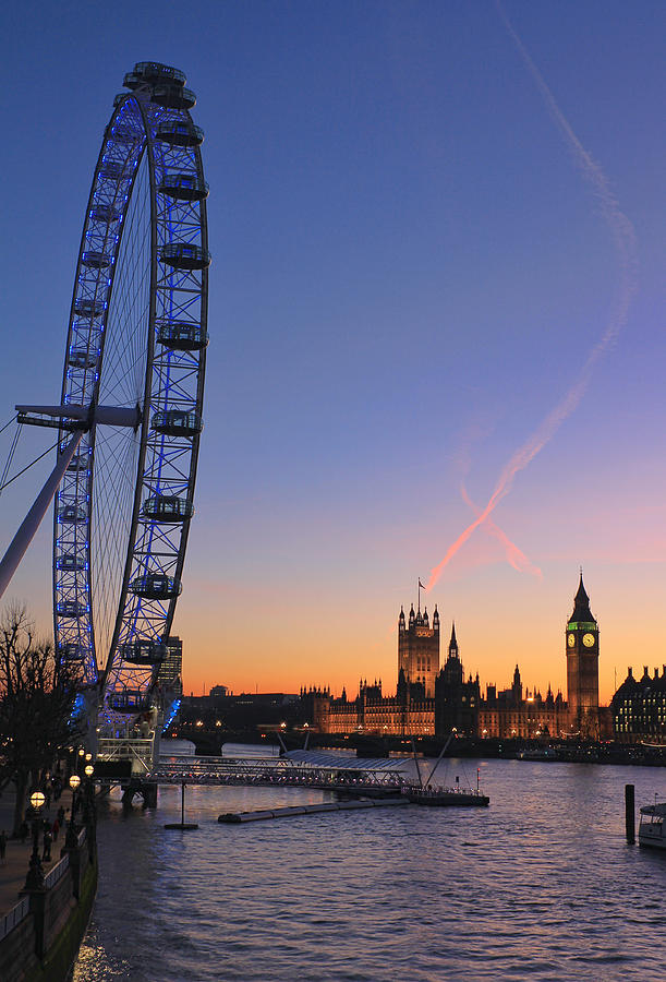 Sunset On River Thames Photograph