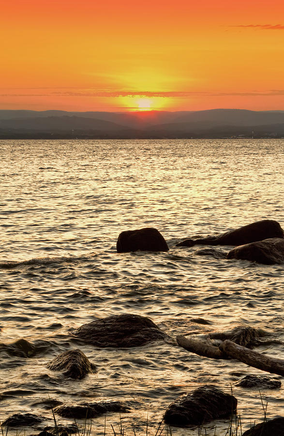 Sunset Photograph - Sunset On The Beach by Alexander Mendoza