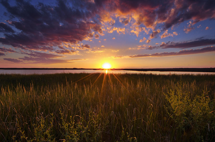 Marsh Photograph - Sunset On The Marsh by Joseph Rossbach