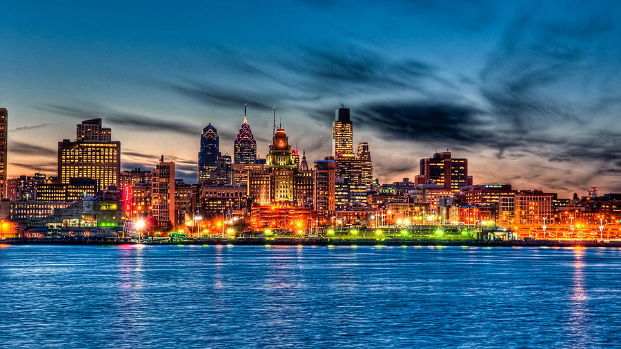 Photography Photograph - Sunset Over Philadelphia by Louis Dallara